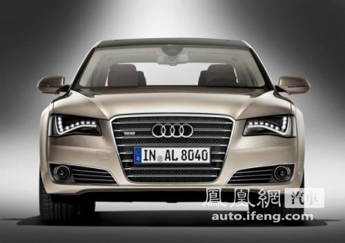 奥迪发布长轴距版A8L 轴距/长度均加长130mm\(4\)