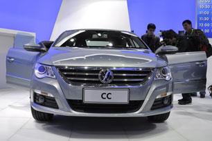 实拍:国产大众CC亮相北京车展