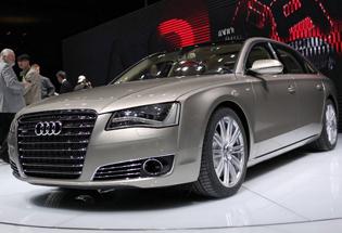 新奥迪A8L W12北京车展实拍图