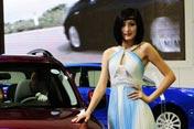 北京进口车展上的车模MM
