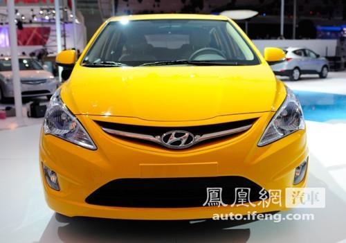 北京现代瑞纳两厢现身广州车展 全球首发亮相