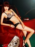 豹纹配黑丝 野性与诱惑的完美结合