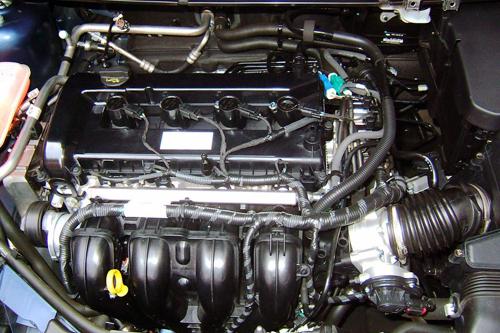 小汽车引擎结构图