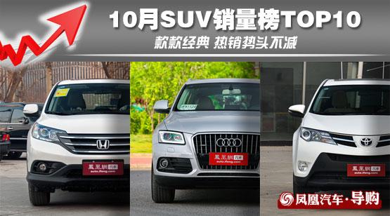 10月SUV销量榜TOP10