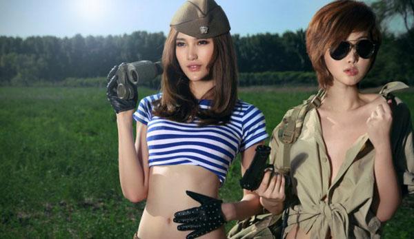 妖魅美女士兵的身体游戏