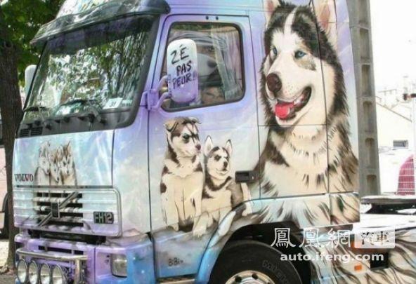 疯狂的艺术 国外的卡车涂鸦