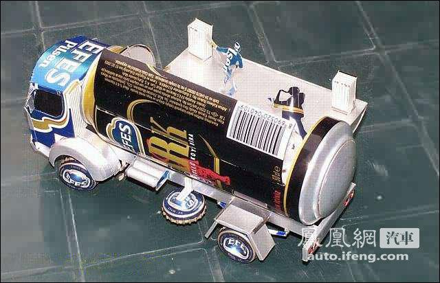 牛人用易拉罐做汽车模型全过程 (转)