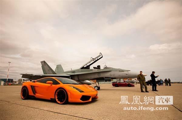 众超跑在飞机场迎战大黄蜂f-18-手机凤凰网