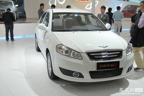 瑞麒G5配VVT发动机 G3/G6年内全部上市