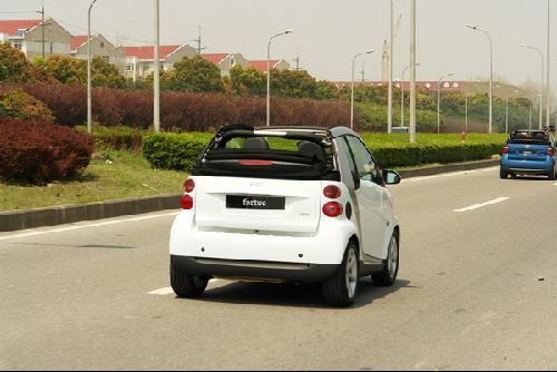 试驾灵动小车smart fortwo高清图片