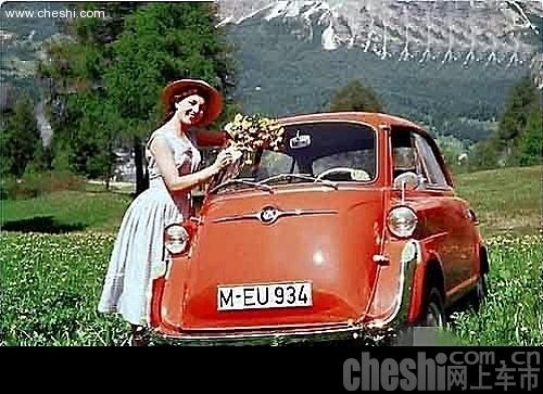 早期国外美女车模照片
