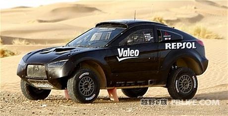 三菱车队退出达喀尔拉力赛高清图片