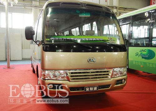 江淮客车今后的重点在燃气客车市场和油电混合动力市场,与此高清图片