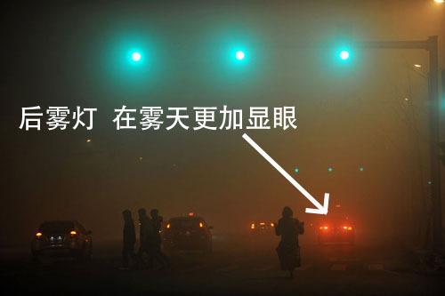 汽车后雾灯