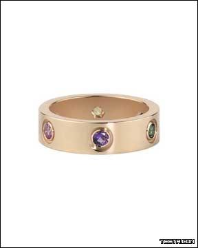 卡地亚 Love系列玫瑰金镶钻戒指