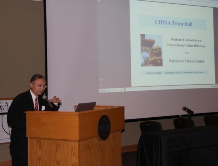 田德友参赞出席俄勒冈-中国经贸情况研讨会并发表演讲