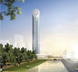 苏州开建450米高摩天大楼 将成江苏第一高楼