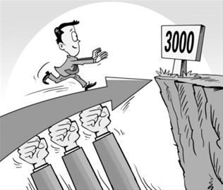二八分募化权重股领上涨父亲盘 上证指数副即兴3000