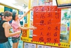 高雄彩民独中15.6亿巨奖 创台湾彩票新纪录