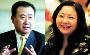 商业地产之王与房地产女首富:王健林与吴亚军家族