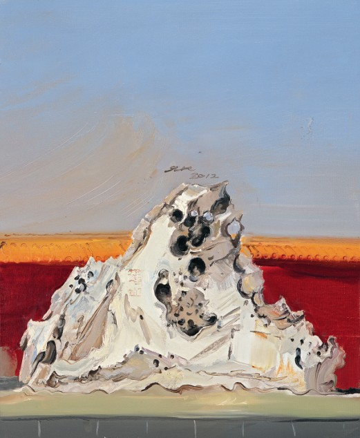 杨海峰作品 2013年元月2日,向北一千里----孟新宇、杨海峰油画作品展在北京798艺术区香港当代美术馆开幕。 此次画展汇集了孟新宇、杨海峰两位青年油画家的30余幅油画精品,这些作品是他们2012年从河南到陕北的采风写生创作的油画精品。两位画家既是在全国大展中获奖的佼佼者,也是在国内展览中崭露头角的新锐和黑马。 孟新宇对油画的本土化思考已经至为鲜明,在中原厚土上的生存经验和文化记忆是他创作的源泉,在油画创作中有了自己明确的文化选择。我们现在看他的作品,不难从中发现,在他激越奔放的笔触和凝重浓艳的色彩中,