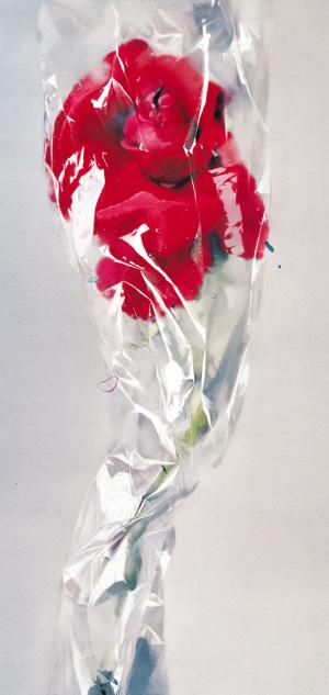 《一支玫瑰》 280cm×170cm布面油画 2009年