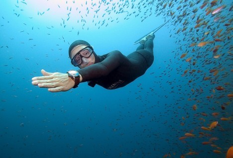 绩刷新女子自由潜水