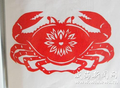 海底螃蟹小动物剪纸