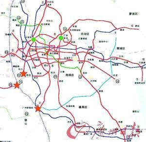 被央视曝光的广州地铁新规划图-泛地铁时代来临 地铁改变广州楼市