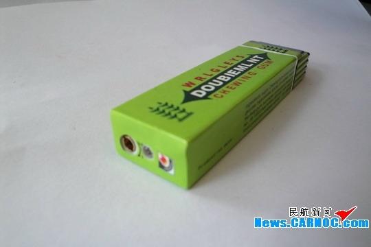 美兰情趣首次查获绿箭口香糖机场打火机透明手机短信样式装购图片