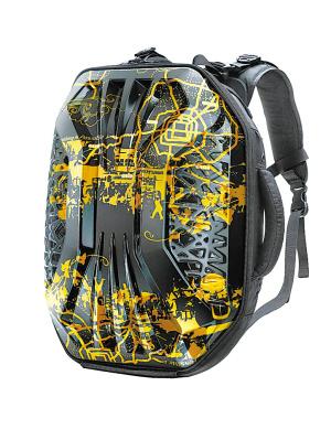 电脑背包内部结构线稿图