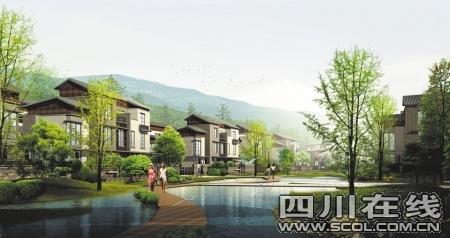 院落精粹,兼具蜀文化的神髓及现代建筑创新元素,以中式风格别墅和花园