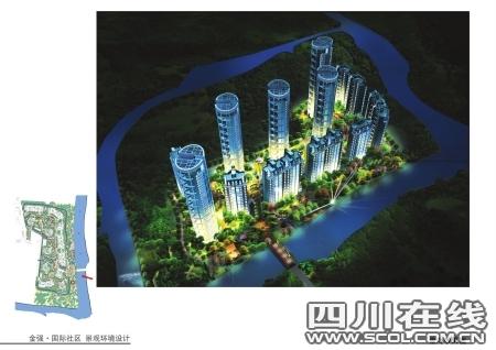 巨龙环岛国际社区 别墅身价的电梯豪宅