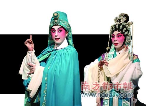 以反串出名的盖鸣晖(左)是香港