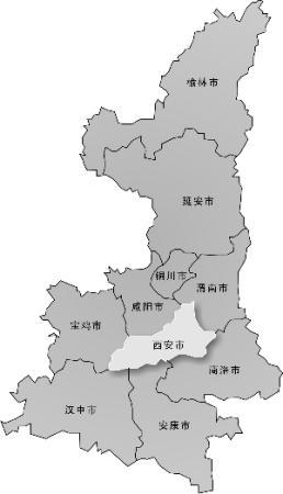 陕西 西安/陕西政区图