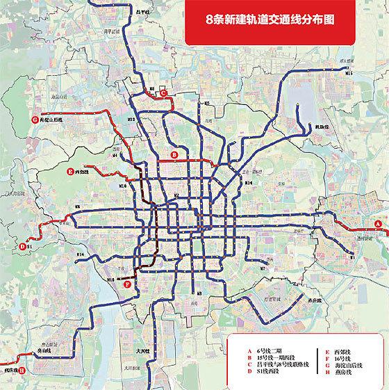 与6号线一期贯通后,将成为贯穿北京东西的交通大动脉,根本缓解地铁1号