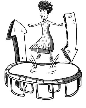 职场女性手绘线稿