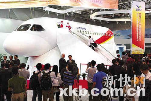 2009年11月3日,可匹配c919的首款国产飞机发动机模型sf-a亮相上海.