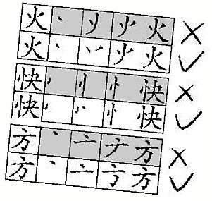 传个别汉字书写笔顺将调 火 字写法引热议