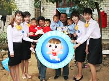 爱心大使中国郑州四胞胎捐赠